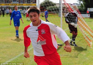 Austin playing for Poole Town in 2008.